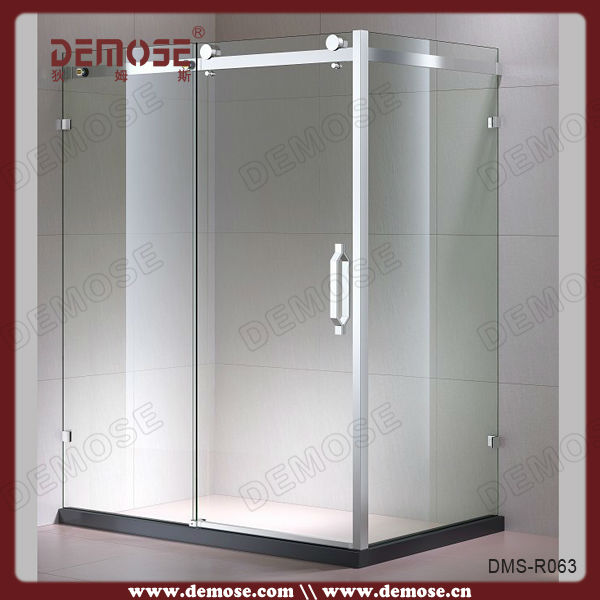 Sliding Folding Plastic Curved Glass Shower Doors With Clips - Buy ...