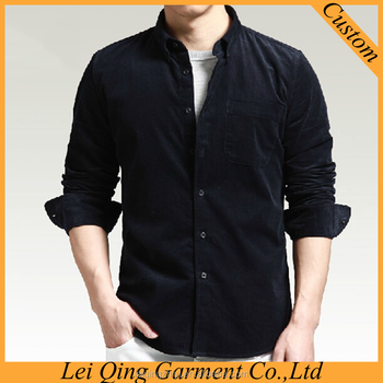 0036ff56b 2015 New Design Long Sleeve Casual Pure Corduroy Shirts For Men ...