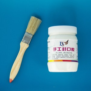 10kg white glue with brush hold by hands for paper boxes