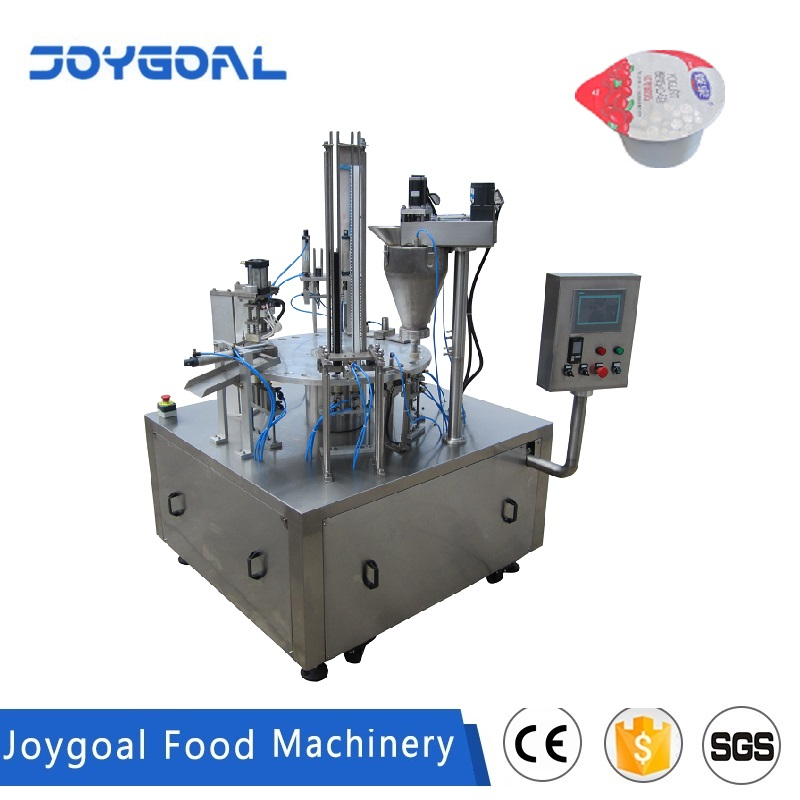 JOYGOAL factory sale ce automatic rotary ice cream cup filling sealing machine