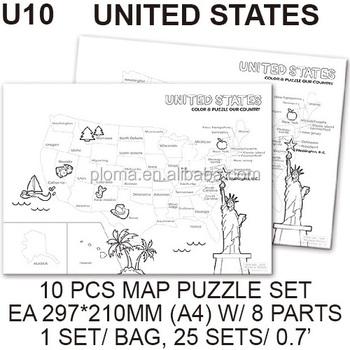 10 Set United States Map Jigsaw Puzzle Buy Puzzle Jigsawunited - Us-map-jigsaw-puzzle