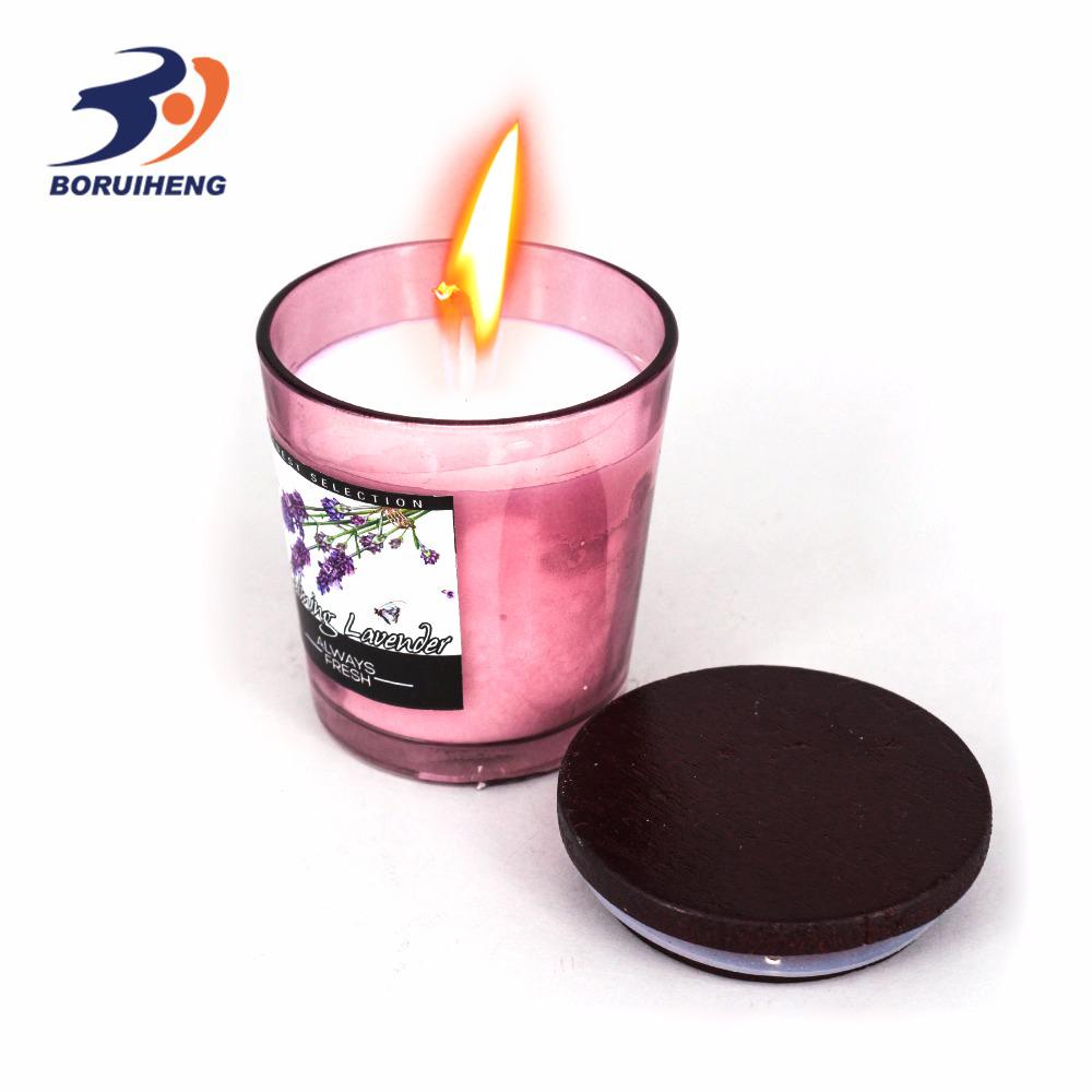 Stampati personalizzati candela scatole profumato 100% candele di soia