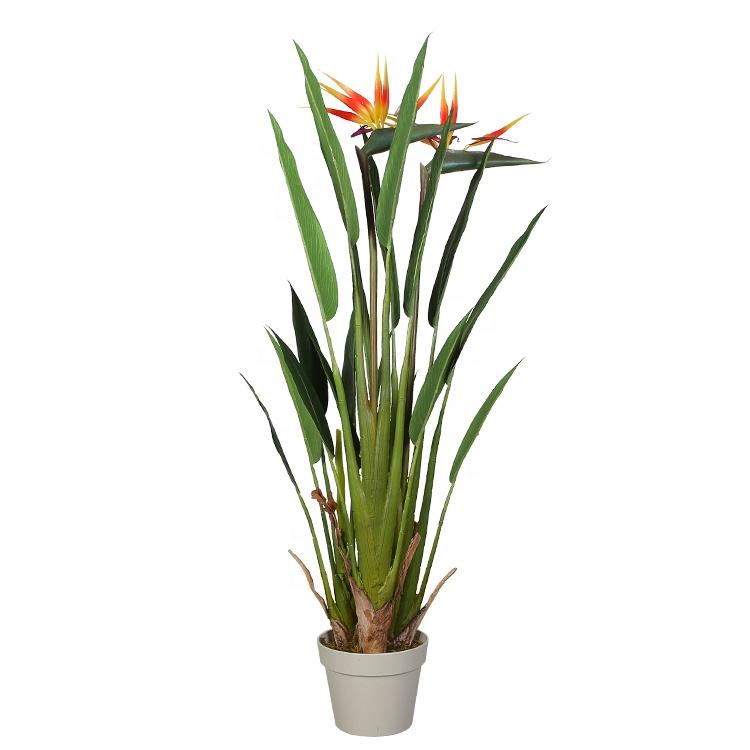 110cm décor à la maison Strelitzia artificielle plante Y8498-18-2-3P avec des fleurs