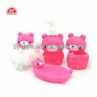 custom make vinyl or pvc animal shape bathroom sets