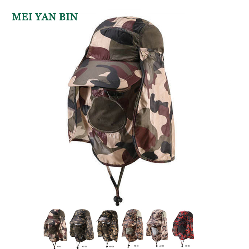 AD wholesale light weight full face flap camo jungle hunting <strong>hats</strong>