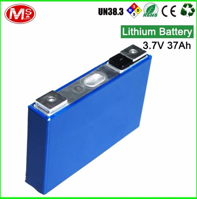 NCM rechargeable lithium ion battery 3.7V 37Ah for solar lighting system