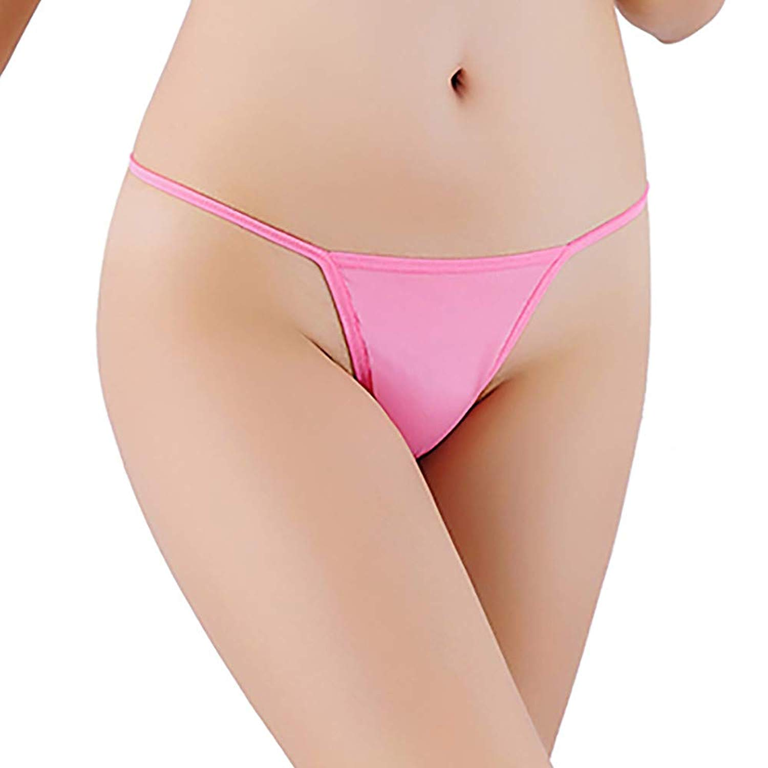 9bb7daf8818 Get Quotations · ManxiVoo Womens Low Rise G-String Stretchy Bandage Panties  Sexy Thong T-Back Underwear