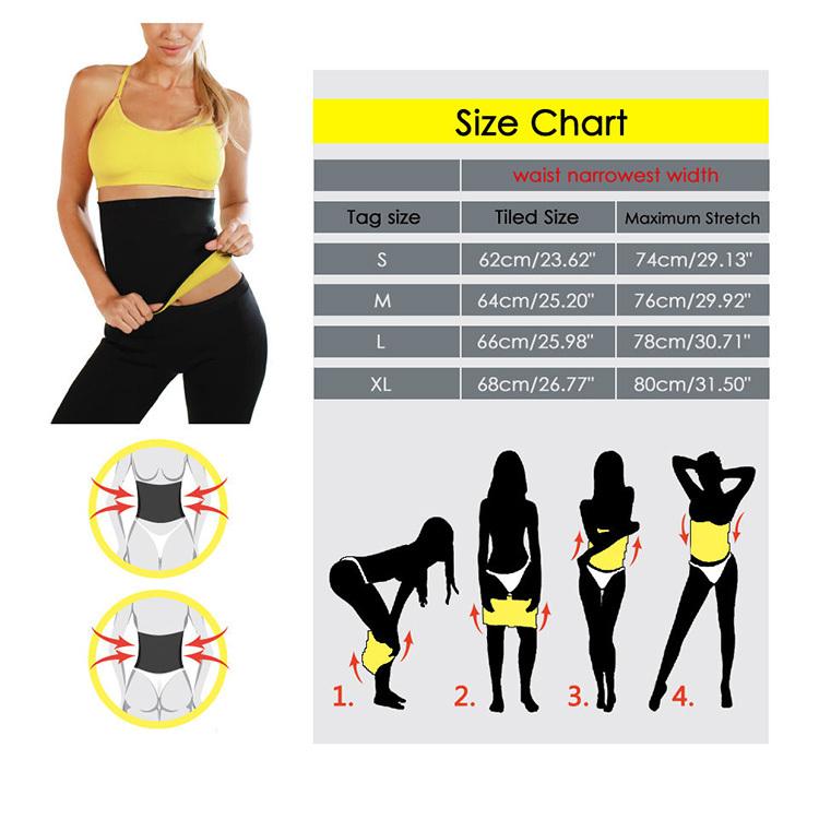 76ec2a54093 Lady Corset Shaping Slimming Belt Burner Belly Fitness Waist Body Wrap  Cellulite Shaper Sauna Belt For