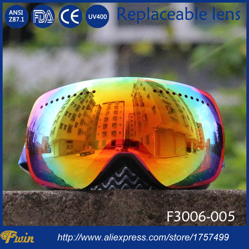 8c1240bbbb73 Professional OEM customized low MOQ double lens ski goggles anti-fog big  spherical Skiing Eyewear unisex CE snow ski goggles