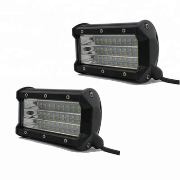 Motor LED Car Headlight Assembly Mouldings 5 Inch 81W Three Rows LED Work Light Bar Flood  Driving Lamp For Truck Offroad