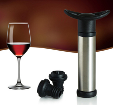 food grade vacuum Wine Saver With 2 Vacuum Wine Bottle Stoppers
