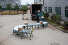 truck unloading&unloading conveyor, expandable conveyor, gravity roller&wheel conveyor