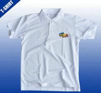 White V-neck man polo t-shirt