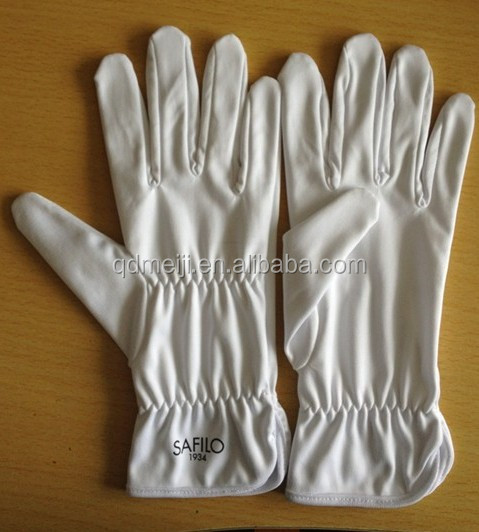 white ployester microfiber jewelry cleaning gloves