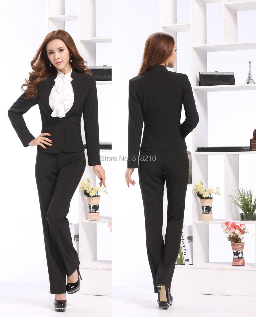 d84be8f4e6f5c Get Quotations · Formal Pantsuits Uniform Style 2015 Autumn Winter Fashion  Slim Business Women Work Wear Suits Jackets And