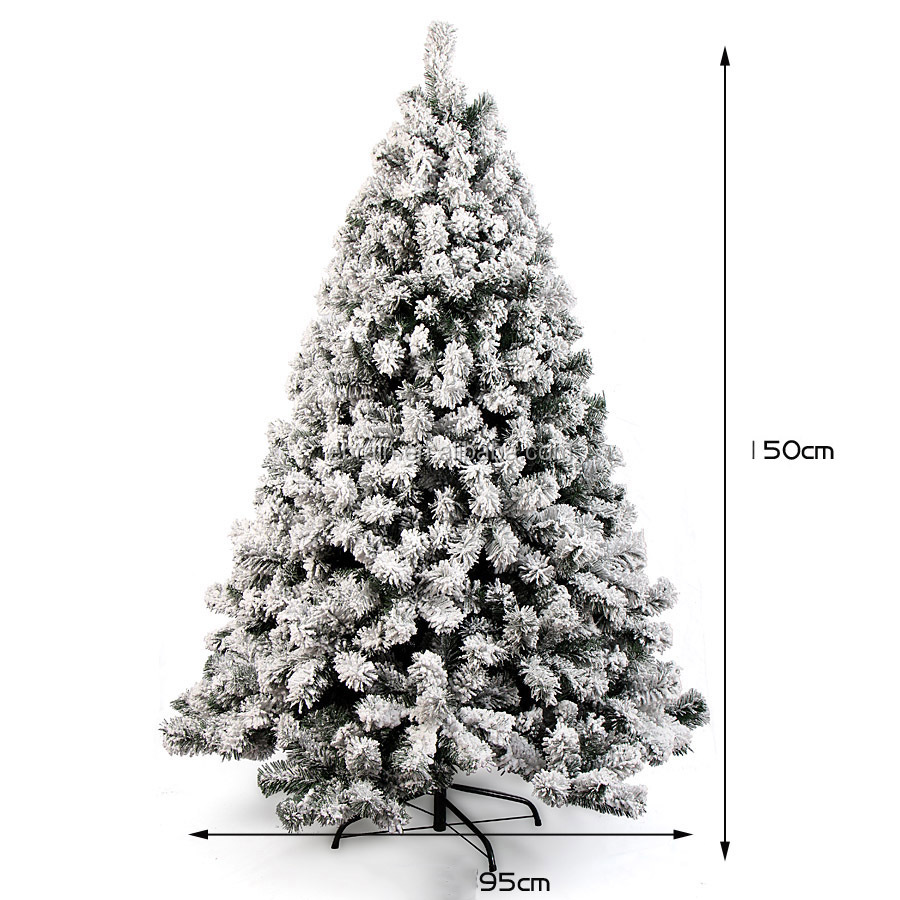 New Big Size Tall Snowing White Christmas Tree Decorations Frosted ...