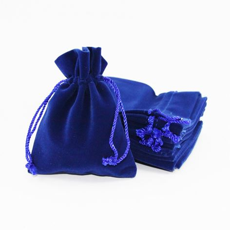 Latest product unique design exclusive velvet jewelry pouch with logo