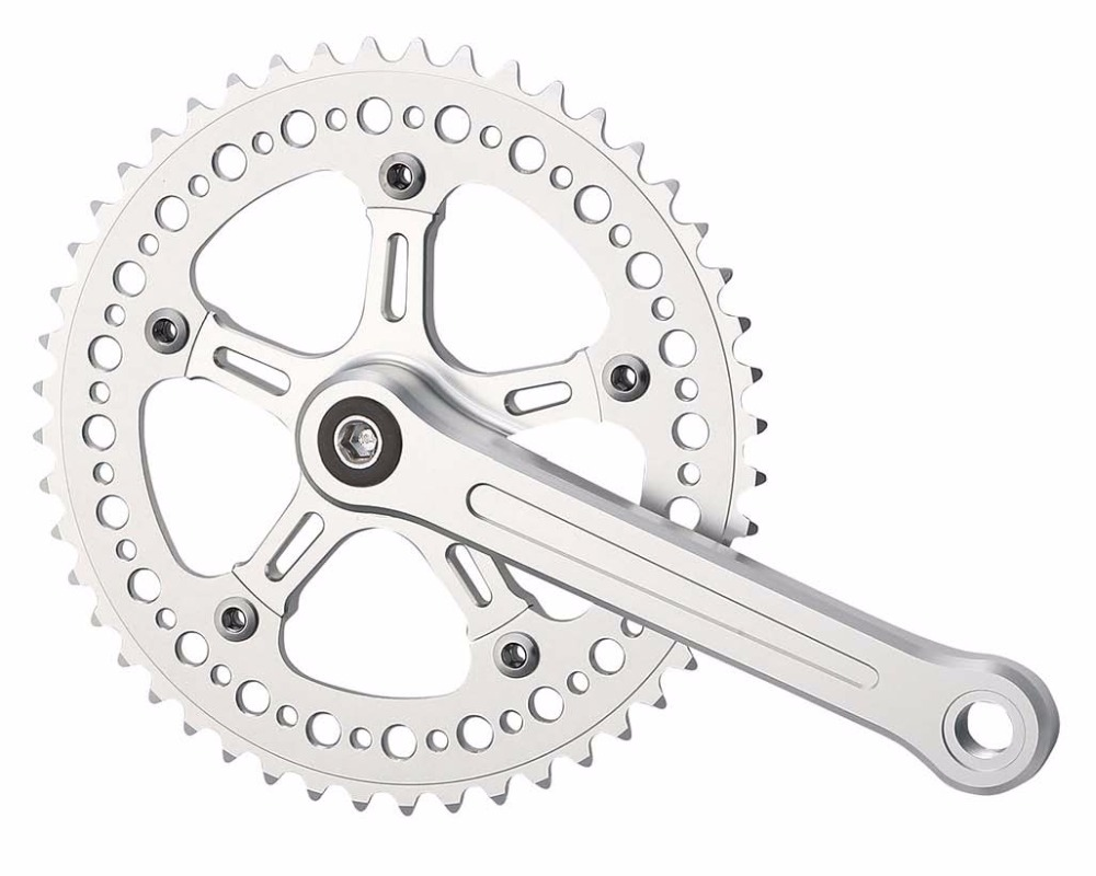 Fixed Gear Bicycle Driveline Crankset With Cnc Chainring And Crank 46t Arm Ac1 As132 Buy Cranksetcrankset Chainringfixed