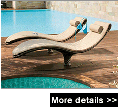 Foshan wholesale high quality modern teak wood outdoor poolside reclining sofa bed