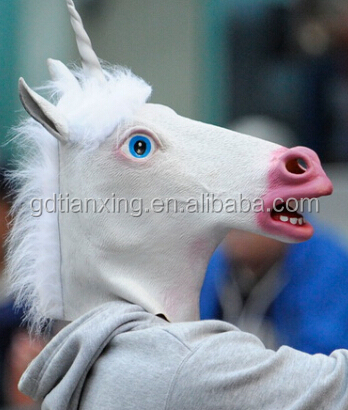 Halloween Costume Theater Prop High quality Novelty Latex Rubber horse Head animal Mask