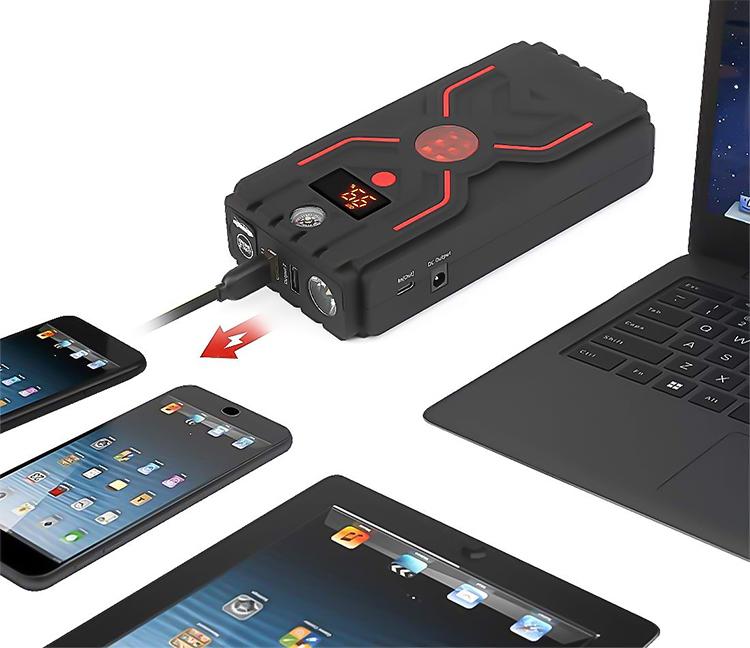 Multifonction Portable 1200A ultra haute courant de crête de banque de puissance de démarreur de saut de voiture