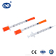 Medical sterile disposable insulin syringe u100 u50 u30 for diabetes