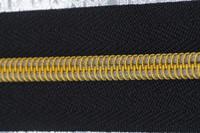 Nylon Gold/Silver Teeth Long Chain