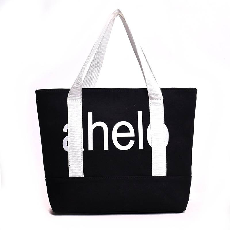 Thicken letter printing customized factory direct supply canvas tote bag for <strong>promotional</strong>
