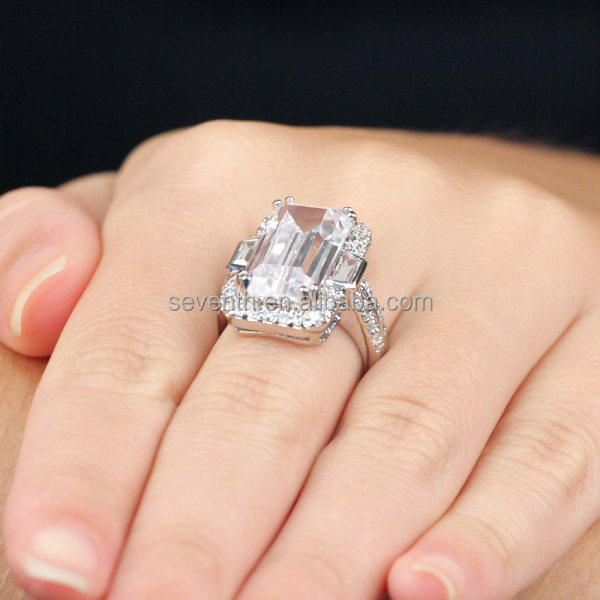 synthetic item wedding sterling rings solitaire silver for carat engagement colorfish diamond luxury bands ring cut women stone oval big