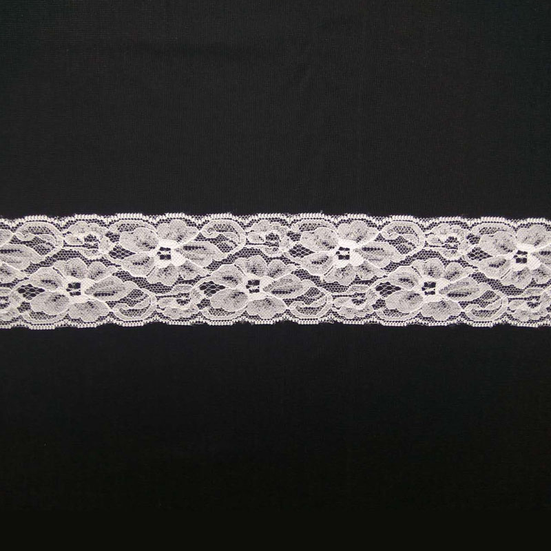 Nylon raw white bridal flower trim lace for decoration