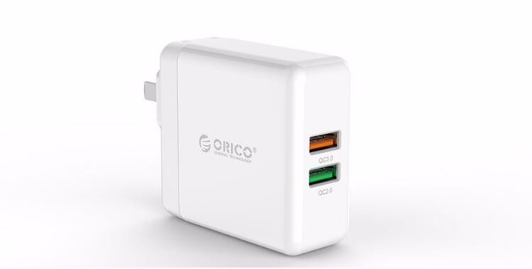 ORICO QC3.0 & QC2.0 dual ports Smart wall Charger