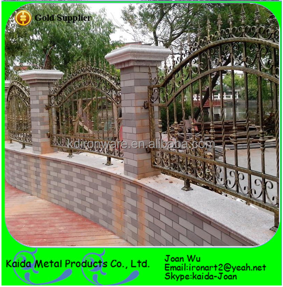 Wrought Iron Fence Designs Aluminum Fence In The Circle Full
