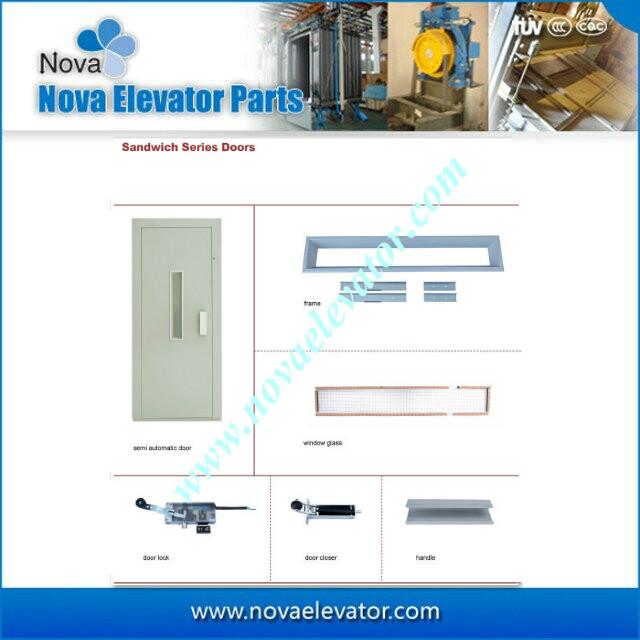 Elevator Sandwich Series Door With Lock And Closer