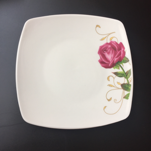 economic price and excellent quality ceramic flat plate dishes