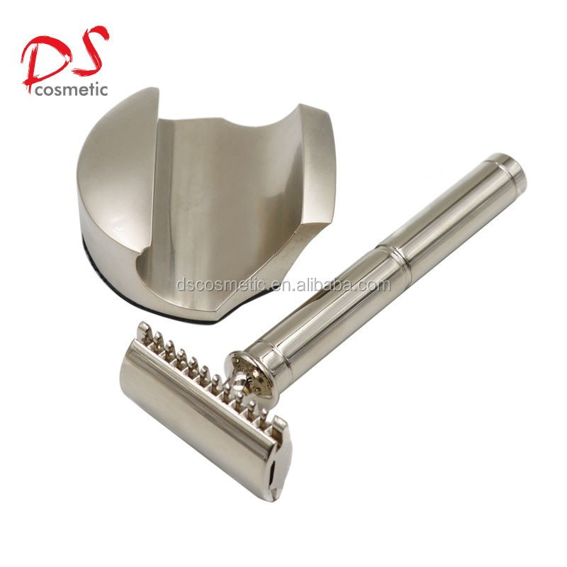 new double edge safety razor stand for man shaving razor