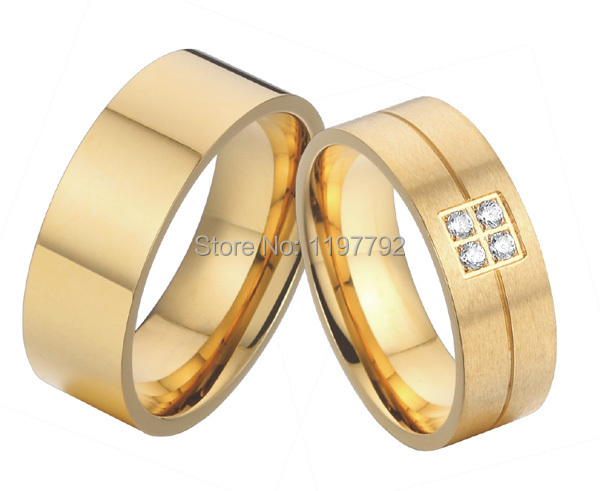 Get Quotations Western European Style 18k Gold Plated Pure Anium Wedding Bands Engagement Rings Sets For Men
