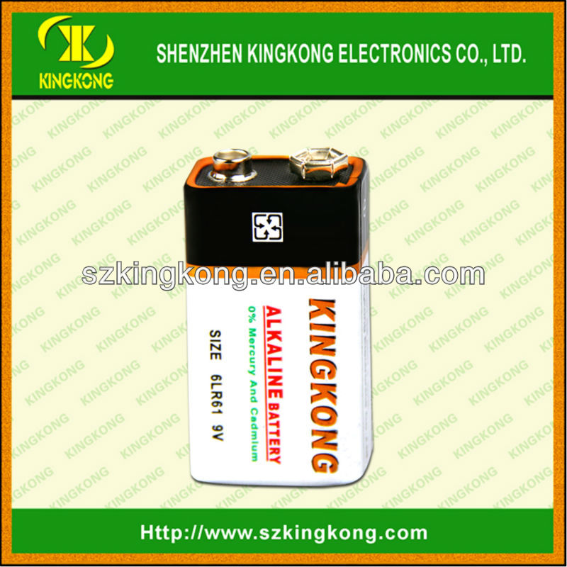 With SGS shenzhen industry 6LR61 super alkaline battery 9v (Dry battery )