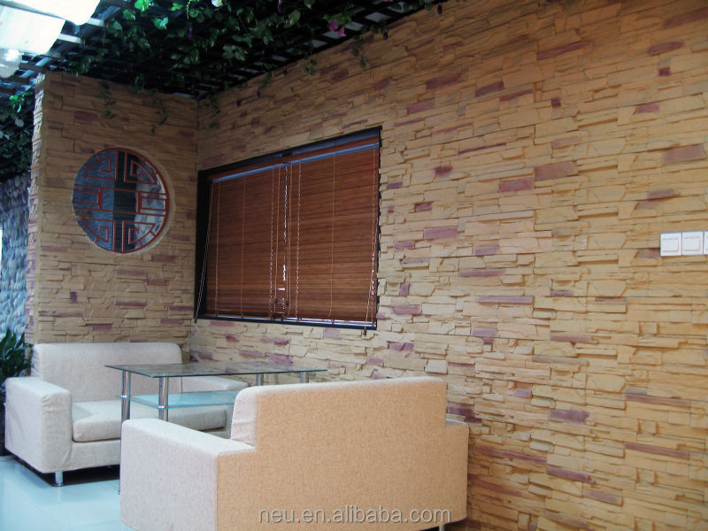 Pu Faux Ledge Stone Wall Panels For Art Decoration