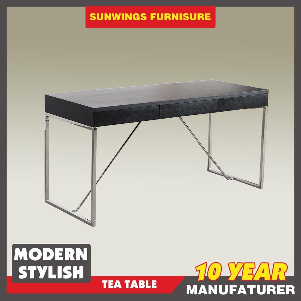 Marco superior de acero inoxidable de diseño de madera mesa de ...