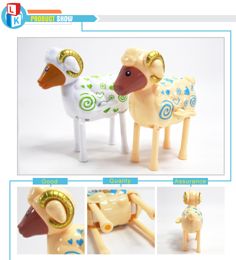 wholesale toys china plastic sheep toy clockwork spring of classic