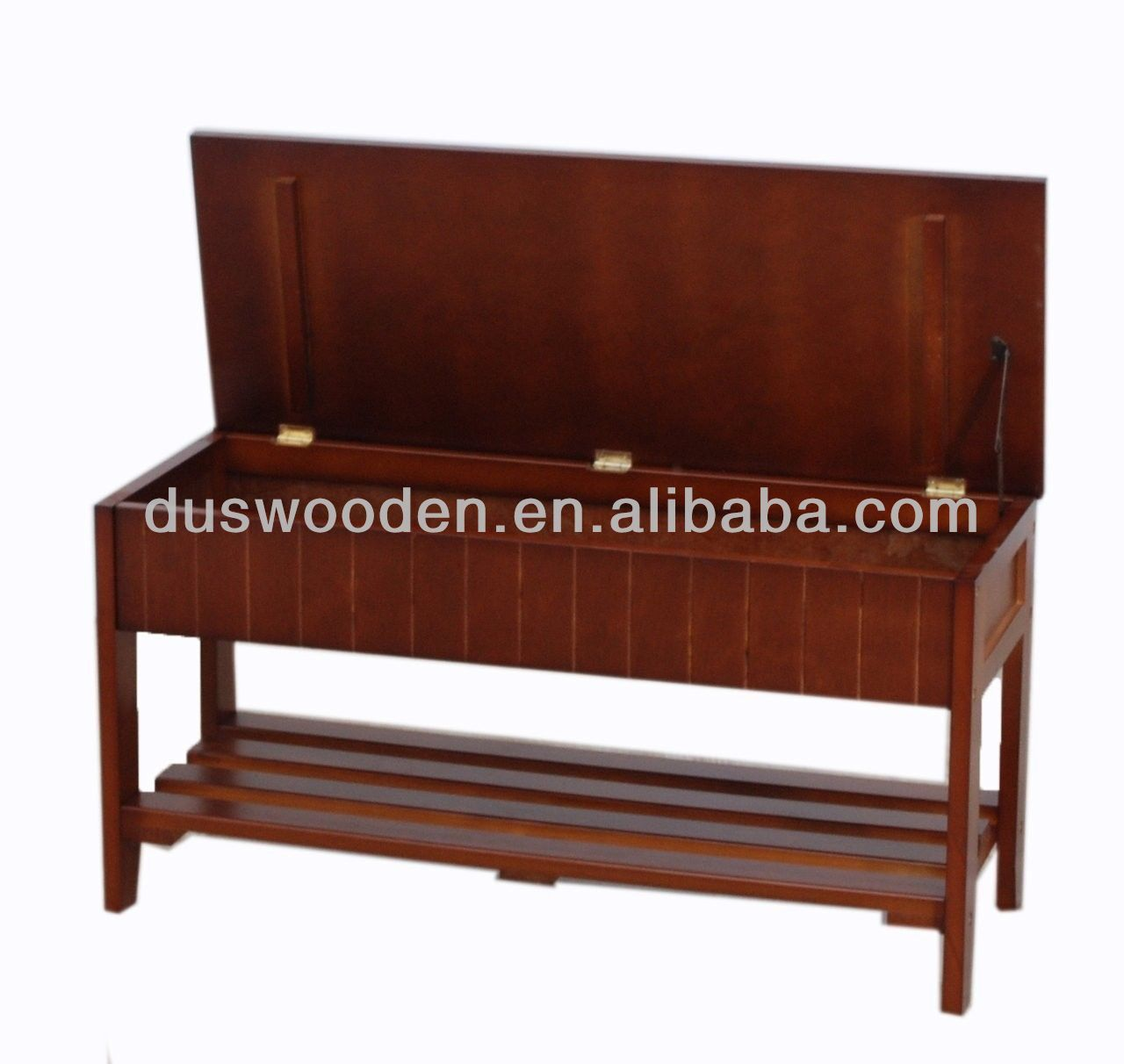 2014 Hot Solid Wood Shoe Bench with Storage