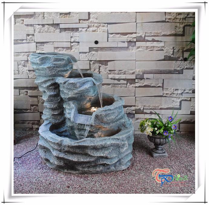 Fiberglass Artificial Rock Waterfall For Garden Fountain