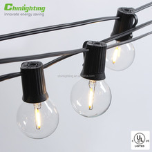 LED Indoor / Outdoor Commercial Globe string Light with G40 Natural Warm White LED Bulbs filament
