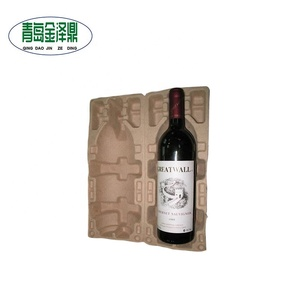 Best selling products molded pulp wine bottle cardboard packaging tray