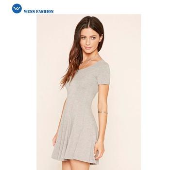 Günstige Frauen Kleidung Kleider Plain Knit Skater Kleid Mode Kleid ...