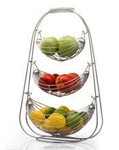 3 Tier Chrome Triple Hammock Fruit Basket