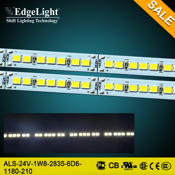 Edgelight Popular shop advertising display aluminum frame ultra thin vertical led strip for vertical lighting