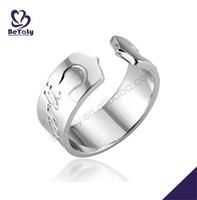 High end engraved open-ended silver new design rings