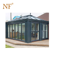 Decoration prefabricated aluminium glass roof sunroom glass house green house conservatory