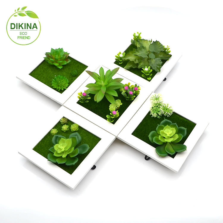 Wedding Birthday Gifts Green Succulent Jewelry Necklace Pendant Wholesale Faux Fake Artificial Cactus Plants